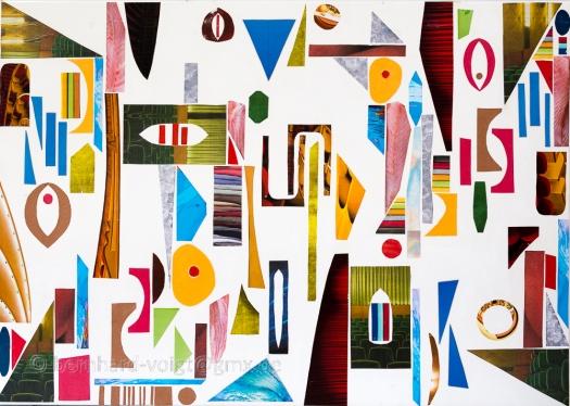 Fragmente I - Fragments I, Mixed Media on primed canvas, 50cm x 70cm