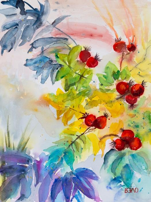 Herbststimmung mit Hagebutten - Autumn mood with rose hips