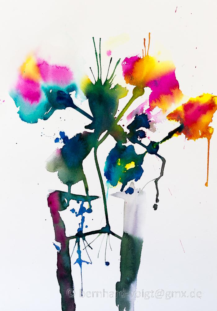 Abstrakte Sommerblumen I - Abstract Summer Flowers I