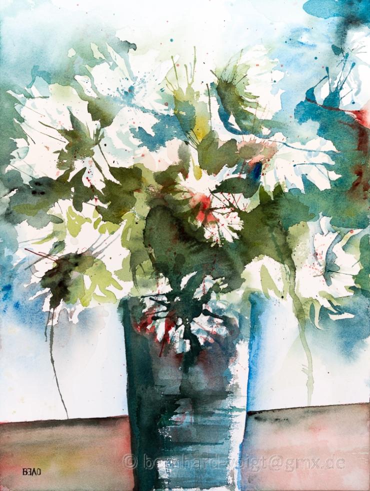 Weiße Chrysanthemen im Gedenken - White Chrysanthemums in Memor