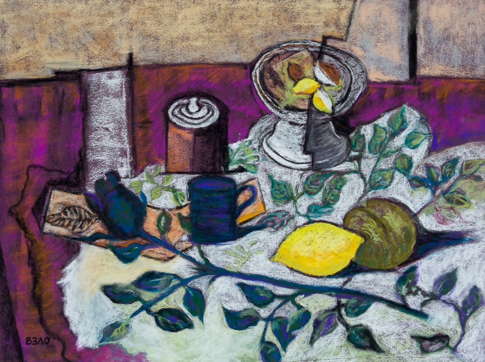 Hommage in Pastell an die Schwarze Rose von George Braque - Homage in pastel to the Black Rose by George Braque