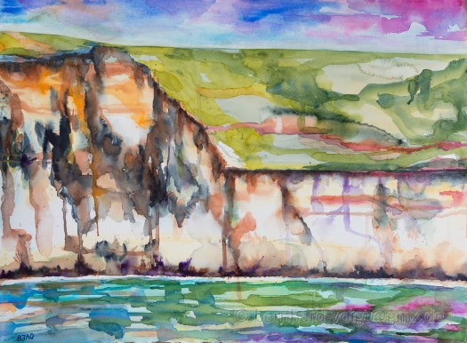Küste von Dover IV - Coast off Dover IV, Aquarellgmälde, watercolour painting