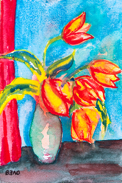 Yellow-Red tulips in Spring 2019 III