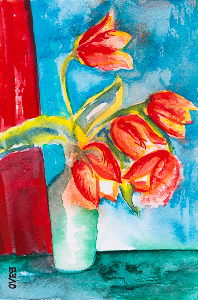 Yellow-Red tulips in Spring 2019 II