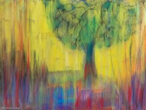 Bäume I - Trees I, Pastell auf PASTELMAT® 24cm x 32cm - Pastel on PASTELMAT® 9,4in x 12,6in