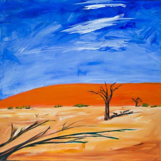 Dead Vlei, Namibia, Acrylbid 70cm x 70cm