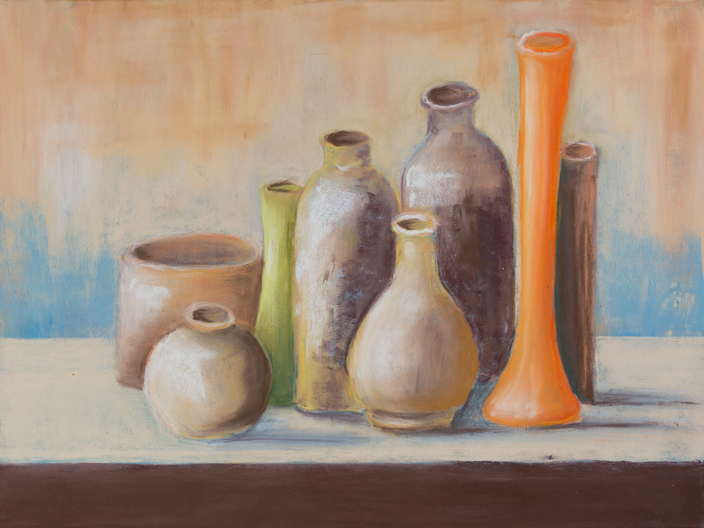 Slillleben - Hommage an Giorgio Morandi - Still Life - Homage to Giorgio Morandi - Acryl, 30cm x 40 cm