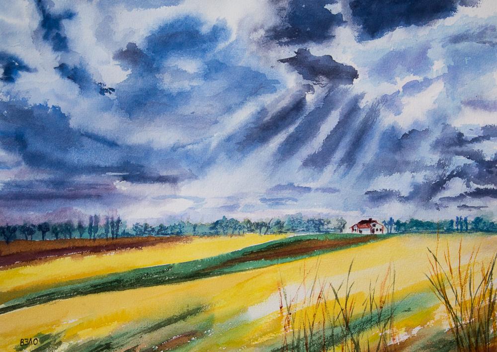 Impressionen aus der Mark Brandenburg - Bauerngehöft an einer Brandenburger Allee